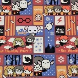 Harry Potter Wrapping Paper Gift Book Cover Party Wrap 2 Sheets Hermone Ron Dobb